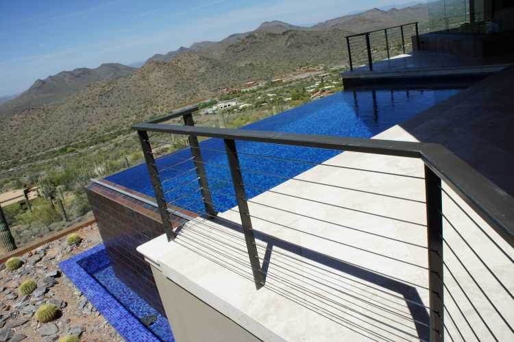 Superieur Modern Phx And Cable Rail Glass Wall Blue  ...