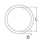Dimensional Drawing for Round Ring