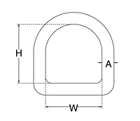 Dimensional Drawing for D Ring