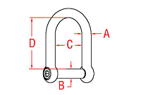 316 Stainless Steel Wide D Shackles - 2