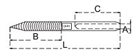 lag swage stud drawing