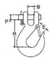 Overhead Lifting Clevis Slip Hook schematic