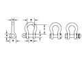 Dimensional Drawing for CM® Alloy Anchor Shackles