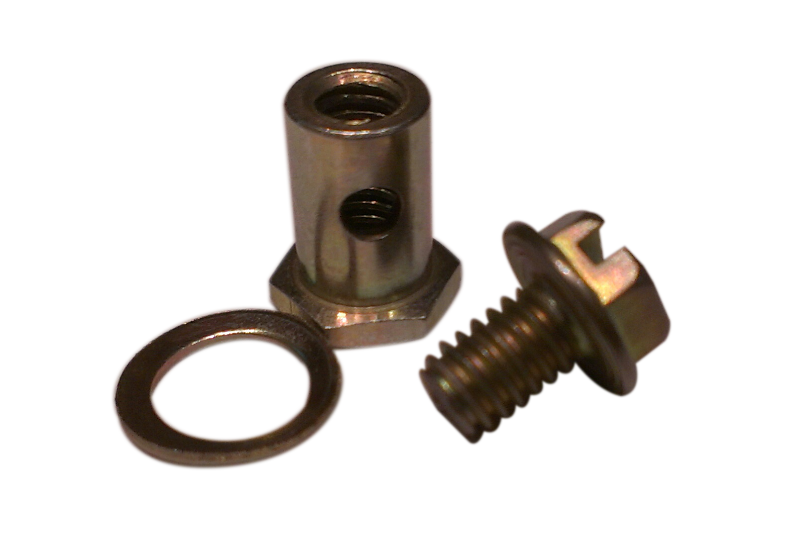 Push Pull Cable Stop Ends : Item zinc plated swivel assembly on lexco