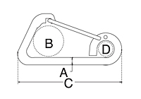 Dimensional Drawing for Harness Clip