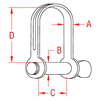 304 Stainless Steel Stamped D Shackles with Screw Pin - 2
