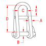 316 and 17-4 PH Stainless Steel Halyard Shackles with Key Pin - 2
